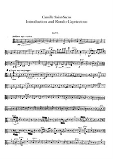 Introduktion und Rondo Capriccioso, Op.28: Violastimme by Camille Saint-Saëns