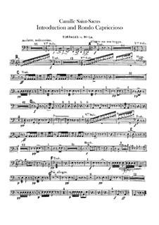Introduktion und Rondo Capriccioso, Op.28: Paukenstimme by Camille Saint-Saëns