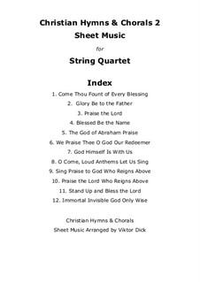 Christian Hymns & Chorals 2: Für Streichquartett by folklore, Joachim Neander, Rowland Huw Prichard