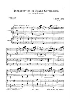 Introduktion und Rondo Capriccioso, Op.28: Für zwei Klaviere, vierhändig by Camille Saint-Saëns