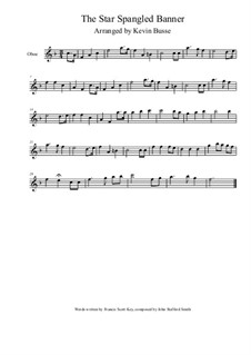 The Star Spangled Banner (National Anthem of The United States): For oboe by John Stafford Smith