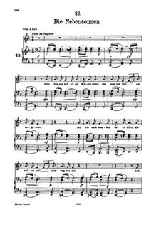 Nr.23 Die Nebensonnen: Für tiefe Stimme und Klavier by Franz Schubert