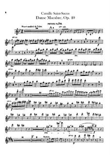 Totentanz, Op.40: Piccoloflöten- und Flötenstimmen I, II by Camille Saint-Saëns