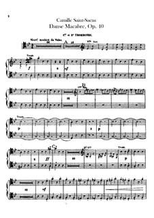 Totentanz, Op.40: Posaune- und Tubastimmen by Camille Saint-Saëns
