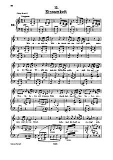 Nr.12 Einsamkeit: Für tiefe Stimme und Klavier by Franz Schubert