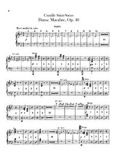Totentanz, Op.40: Harfestimmen by Camille Saint-Saëns