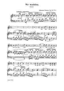 Vier Lieder, Op.96: Nr.2 Wir wandelten by Johannes Brahms