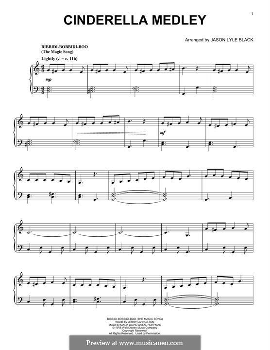 Cinderella Medley: Für Klavier by Al Hoffman, Jerry Livingston, Mack David