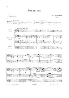 Suite in D-Dur, Op.49: Sarabande, für Orgel by Camille Saint-Saëns