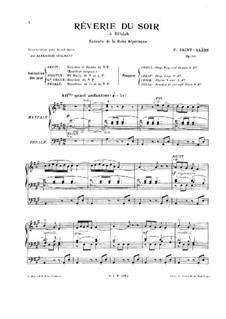 Suite algérienne, Op.60: No.3 Rêverie du soir, for Organ by Camille Saint-Saëns