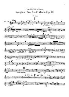 Sinfonie Nr.3 in c-Moll 'Orgelsinfonie', Op.78: Hörnerstimmen I, II by Camille Saint-Saëns