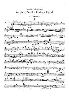 Sinfonie Nr.3 in c-Moll 'Orgelsinfonie', Op.78: Trompetenstimme by Camille Saint-Saëns