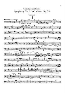 Sinfonie Nr.3 in c-Moll 'Orgelsinfonie', Op.78: Schlagzeugstimmen by Camille Saint-Saëns