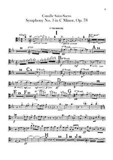 Sinfonie Nr.3 in c-Moll 'Orgelsinfonie', Op.78: Posaunen- und Tubastimmen by Camille Saint-Saëns