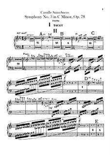 Sinfonie Nr.3 in c-Moll 'Orgelsinfonie', Op.78: Klavierstimmen by Camille Saint-Saëns