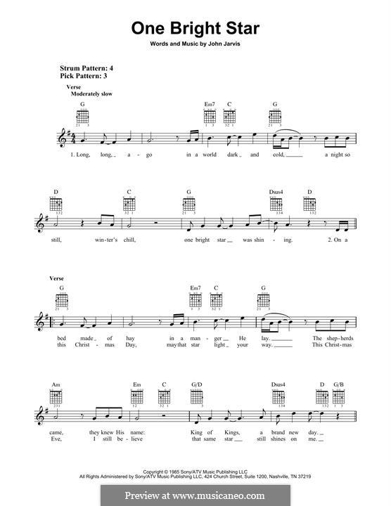 One Bright Star: Für Gitarre mit Tabulatur by John Jarvis