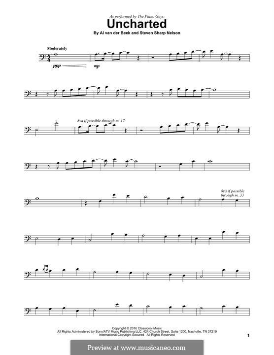 Uncharted (The Piano Guys): Für Cello by Al van der Beek, Steven Sharp Nelson