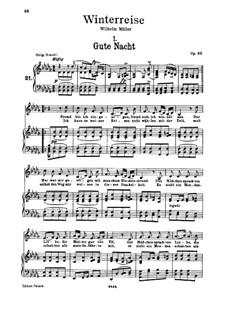 Nr.1 Gute Nacht: Für Stimme und Klavier by Franz Schubert