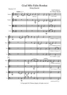 Cead Mile Failte Romhat: Für Streichquartett by folklore