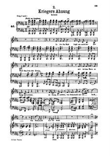 Nr.2 Kriegers Ahnung: Für tiefe Stimme und Klavier by Franz Schubert