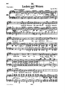 Lachen und Weinen, D.777 Op.59 No.4: Für tiefe Stimme und Klavier by Franz Schubert