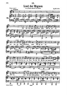 Nr.4 Lied der Mignon: E minor by Franz Schubert