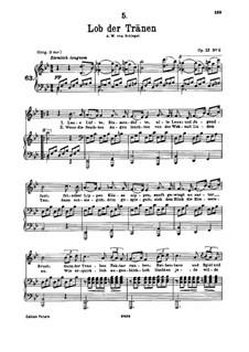 Lob der Tränen, D.711 Op.13 No.2: Für tiefe Stimme und Klavier by Franz Schubert