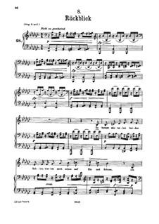 Nr.8 Rückblick: Für tiefe Stimme und Klavier by Franz Schubert