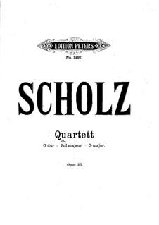 Streichquartett Nr.1 in G-Dur, Op.46: Violinstimme I by Bernhard Scholz