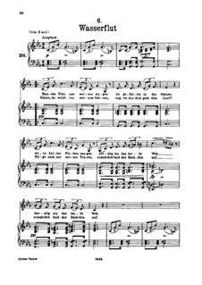 Nr.6 Wasserflut: Für tiefe Stimme und Klavier by Franz Schubert