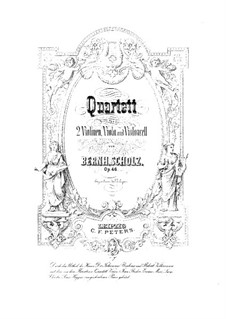 Streichquartett Nr.1 in G-Dur, Op.46: Cellostimme by Bernhard Scholz