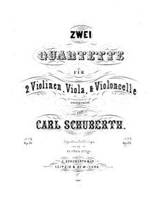 Streichquartett Nr.2 in F-Dur, Op.35: Violinstimme I by Carl Schuberth