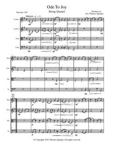 Ode an die Freude: Version für Streichquartett by Ludwig van Beethoven