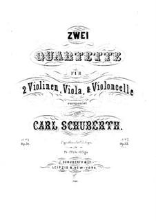 Streichquartett Nr.2 in F-Dur, Op.35: Violastimme by Carl Schuberth