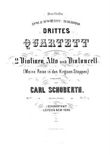 Streichquartett Nr.3 in D-Dur, Op.37: Violinstimme I by Carl Schuberth
