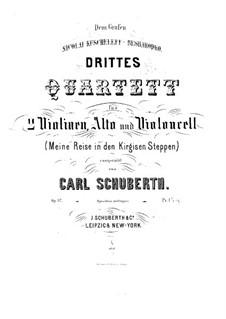 Streichquartett Nr.3 in D-Dur, Op.37: Violastimme by Carl Schuberth