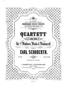 Streichquartett Nr.4 in a-Moll, Op.40: Violinstimme I by Carl Schuberth