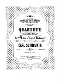 Streichquartett Nr.4 in a-Moll, Op.40: Violinstimme II by Carl Schuberth