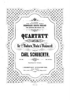 Streichquartett Nr.4 in a-Moll, Op.40: Violastimme by Carl Schuberth