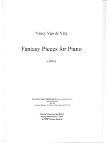 Fantasy Pieces for Piano: Fantasy Pieces for Piano by Nancy Van de Vate