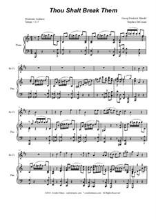 No.43 Thou shalt break them: For Bb-clarinet and piano by Georg Friedrich Händel