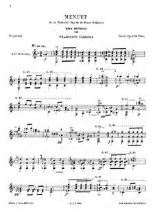 Sonate für Klavier Nr.18 in G-Dur, D.894 Op.78: Teil III. Menuett, für Gitarre by Franz Schubert