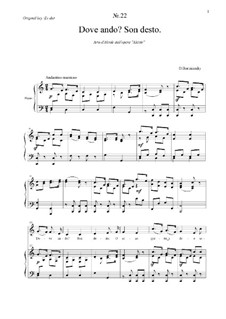 Alcido: Dove ando? Son desto Aria d'Alcide by Dmitri Bortnjanski