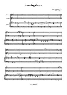 Erstaunliche Gnade: Für Gesang, Geige und Klavier by folklore