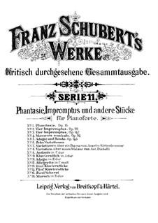 Fantasie für Klavier in C-Dur 'Wanderer', D.760 Op.15: Für einen Interpreten by Franz Schubert