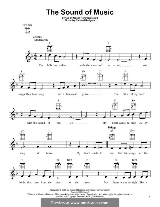 The Sound of Music: Für Ukulele by Richard Rodgers