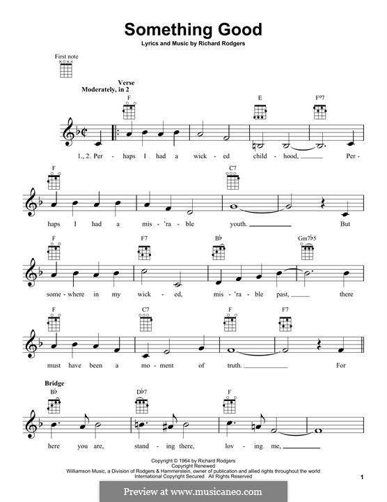 Something Good (from The Sound of Music): Für Ukulele by Richard Rodgers