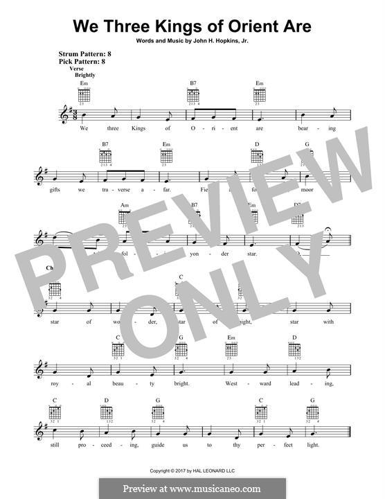 We Three Kings of Orient are: Für Gitarre mit Tabulatur by John H. Hopkins Jr.
