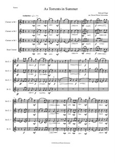 Scenes from the Saga of King Olaf, Op.30: As torrents in summer, for clarinet quartet by Edward Elgar
