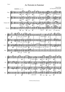 Scenes from the Saga of King Olaf, Op.30: As torrents in summer, for wind quartet by Edward Elgar